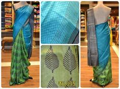 Minimalist yet super stylish tussar silk saree with its gorgeous timeless color combination is the best to flaunt it at parties.