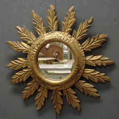 Vintage French sunburst mirror from www.jasperjacks.com