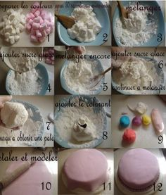 33 Ideas for cupcakes recette pate a sucre Healthy Cupcakes, Fun Cupcakes, Cupcake Cookies, Decors Pate A Sucre, Fondant, Decoration Patisserie, Shortcake Recipe, Creative Desserts, Caramel Recipes