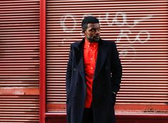 #style #fashion #trench coat #europe #prague #ghanaian #blogger #gq #vogue #h&m See The Sun, Orange Shirt, Prague, Bright Colors, Gq, Trench, Colorful Shirts, Style Fashion, Europe