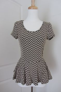 chevron peplum shirt!