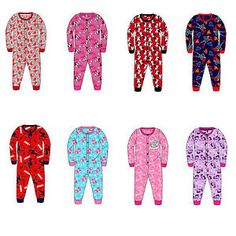 Kids Onesie Girls Boys Jersey All in One Character Childrens Pyjamas 3-10  Years 7e9111c06