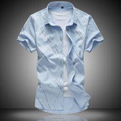 >> Click to Buy << 2017 Summer High Quality Cotton Mens Striped Short Sleeve Shirt Casual Men Dress Shirt Slim Camisa Plus Size 7XL Hawaiian Shirt #Affiliate