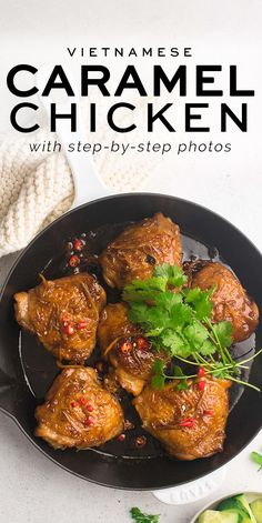 Vietnamese Caramel Chicken with step-by-step photos | Eat, Little Bird Best Chicken Recipes, Turkey Recipes, Dinner Recipes, Dinner Ideas, Breakfast Recipes, Dessert Recipes, Cooking With Ginger, Caramel Chicken, Dairy Free Low Carb