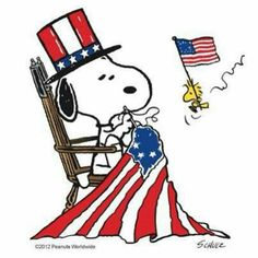 Snoopy ❤ American Flag                                                       …