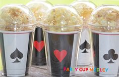 Casino Birthday Party CupsPopcorn BoxSet of 8 by PartyCupMedley, $13.40