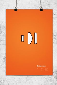 Minimalist posters of Pixar's movies.   Perfect for Media Room.   Finding Nemo.