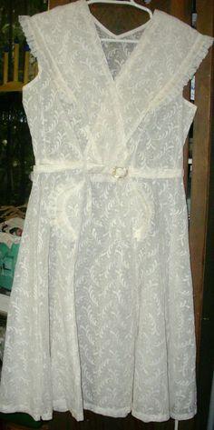LOVELY VINTAGE FRENCH SUMMER FROCK / DRESS | eBay
