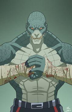 Killer Croc. Liga de la Justicia Ilimitada. Villanos.