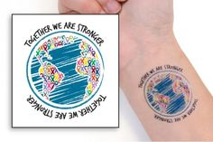 Together We Are Stronger Temporary Tattoos   Choose Hope