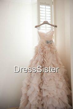 Long Blush Sweetheart Wedding Dress  Sweetheart by DressSister, $418.00