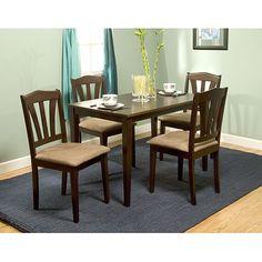 Metropolitan 5-Piece Dining Set, Espresso. I like the rectangular table for 4.