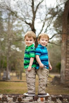 Twins? Don't worry, they don't have to match EXACTLY to be cute :) -- image by John Nettles, Jr. of City Light Studio, LLC.
