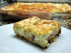 Puff Pastry Strata with Cheese, Veggies and Smoked Turkey: Moroccan Style Strata - Quiche in Puff Pastry