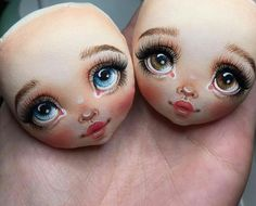 Doll Face Paint, Doll Painting, Diy Toys Doll, Barn Wood Crafts, Pink Doll, Doll Eyes, Sewing Dolls, Child Doll, Fabric Dolls