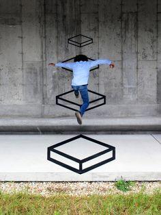 Playful tape installation art by Aakash Nihalani