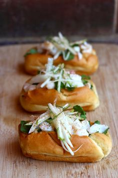 Lobster / Crab Rolls with coconut mayo  and apple