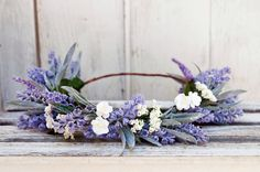 Lavender Flower Crown  Wedding Lavender Flower by PeaceLoveLetters
