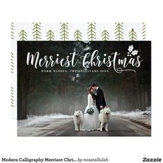 Shop Modern Calligraphy Merriest Christmas Photo Holiday Postcard created by misstallulah. Holiday Postcards, Photo Postcards, Holiday Cards, Christmas Cards, Merry Christmas Photos, Christmas Holidays, Create Your Own Invitations, Modern Calligraphy, Postcard Size