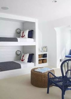 Bunk bed room for the beach house.#bunkbeds #beachhouse