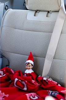 Elf on the Shelf~Waiting in car.