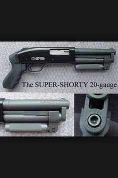 The Shorty, this particular example is a 20 gauge and for its size that's probably best. US Marshalls & FBI witness protection & under cover teams favor it due to its compact size and lethality at close ranges. Home Defense, Self Defense, Weapons Guns, Guns And Ammo, Rifles, Fire Powers, Cool Guns, Firearms, Shotguns