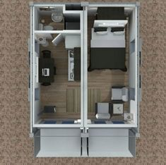 Shipping Container Cabin Concept Part 3 Tiny House Design To connect with us and our community of people from Australia and around the world learning how to live larg. Container Home Designs, Shipping Container Design, Sea Container Homes, Cargo Container, Container House Plans, Shipping Containers, Container Store, Container Architecture, Container Buildings