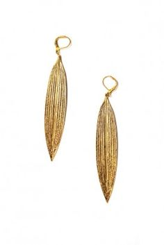 My personal favorite: Bambou Gold earrings