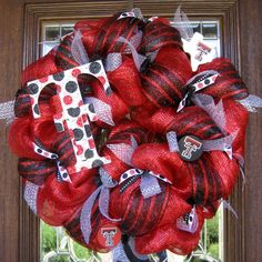 Deco Mesh TEXAS TECH WREATH by decoglitz on Etsy