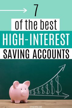 Need a place to save your money? Here are 7 of the best online savings accounts with high-interest rates. I can't wait to start using one of these to store my emergency fund. Best Online Savings Account, High Interest Savings Account, High Interest Accounts, Savings Accounts, Interest Rates, Early Retirement, Retirement Planning, Financial Planning, Personal Finance Articles
