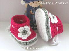 Babyschuhe Laura in 4 Größen ab von Markimo Design® auf DaWanda.com
