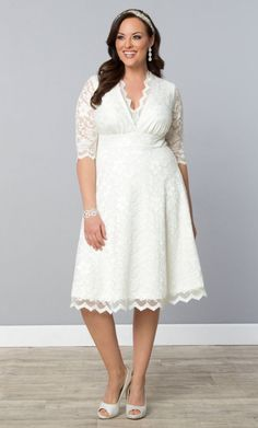 Plus Size Short Ivory Dresses