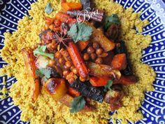 Yotam Ottolenghi's vegetarian couscous Béa's little dishes Yotam Ottolenghi, Ottolenghi Recipes, Vegetable Recipes, Meat Recipes, Vegetarian Recipes, Healthy Recipes, Healthy Food, Harissa, Vegans