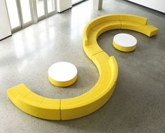 Modular upholstered bench / contemporary / for public buildings - KONTOUR - DAVIS - Videos