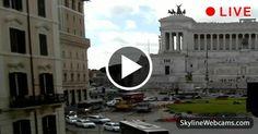 Piazza Venezia, the Altare della Patria from Via del Corso in #Rome. #Live #Webcam from #Italy #Italia #Roma #Viaggiare #Travel