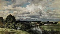 'The Valley of the Thames', 1882, Keeley Halswelle - I love the clouds in this one - I visit it often