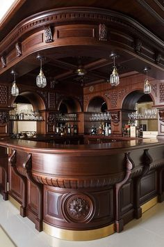 38 The Best Home Bar Designs Ideas - Picking the best basement bar idea from a long list of possibilities can be a daunting task. It will be confusing if you have absolutely no idea what . Small Basement Bars, Basement Bar Designs, Home Bar Designs, Basement Ideas, Basement Plans, Basement Stairs, Diy Home Bar, Bars For Home, Billard Bar