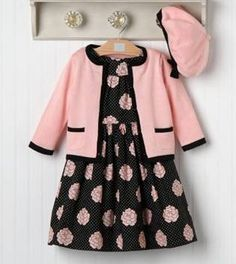 Fashionable Rose Outfit from Janie and Jack. one of my favorite stores for kidlets! Toddler Girl Outfits, Little Dresses, Little Girl Dresses, Toddler Fashion, Kids Outfits, Kids Fashion, Girls Dresses, Girl Dress Patterns, Baby Kind