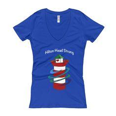 Hilton Head Strong Lighthouse Women's V-Neck T-shirt