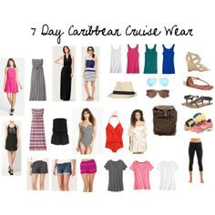 Here are the clothes I'll be packing for our 7-Day Caribbean Cruise.