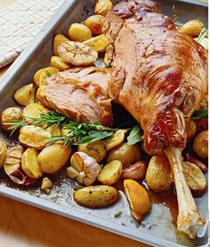Lammkeule mit Ofenkartoffeln