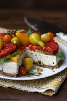 Recipe for Healthy Gluten-Free Diet: Savory Caprese Cheesecake, dairy-free