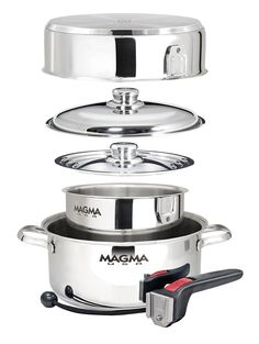 Magma 7 Piece Gourmet Nesting Stainless Steel Cookware Set >>> Find out more details by clicking the image : Cookware Sets
