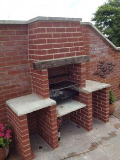 Brick Built BBQ - Chimneys & Fireplaces job in Bury, Lancashire . Brick Built Bbq, Brick Grill, Built In Braai, Built In Grill, Garden Bbq Ideas, Bbq World, Outdoor Barbeque, Barbecue Grill, Bbq Chimney