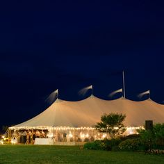 Tented Reception Tent // Photo: Trent Bailey Photography