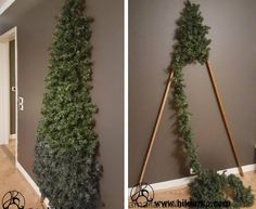 Wall Christmas Tree, Outside Christmas Decorations, Crochet Christmas Decorations, Christmas Crafts For Kids, Kids Crafts, Classy Christmas, Rustic Christmas, Alternative Christmas Tree, Theme Noel