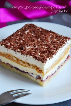 Polish Desserts, No Bake Desserts, Baking Recipes, Cake Recipes, Dessert Recipes, Just Bake, Sweet Recipes, Sweet Tooth, Bakery
