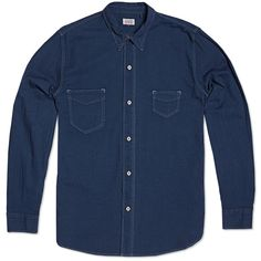 Levi's Vintage Clothing 1920s Two Pocket Sunset Indigo Shirt http://www.sprhuman.com/levis-vintage-clothing-1920s-two-pocket-sunset-indigo-shirt/