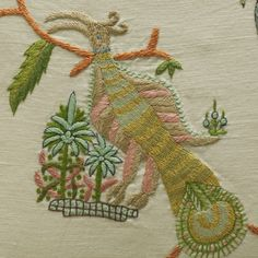 Mythical creatures fabric - Kit Kemp at Chelsea Textiles