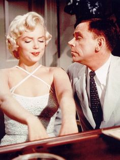 "MArilyn Monroe & Tom Ewell in ""The Seven Year Itch"" release date June 3,1955 premier date June 1,1955 Marilyn's 29th Birthday."
